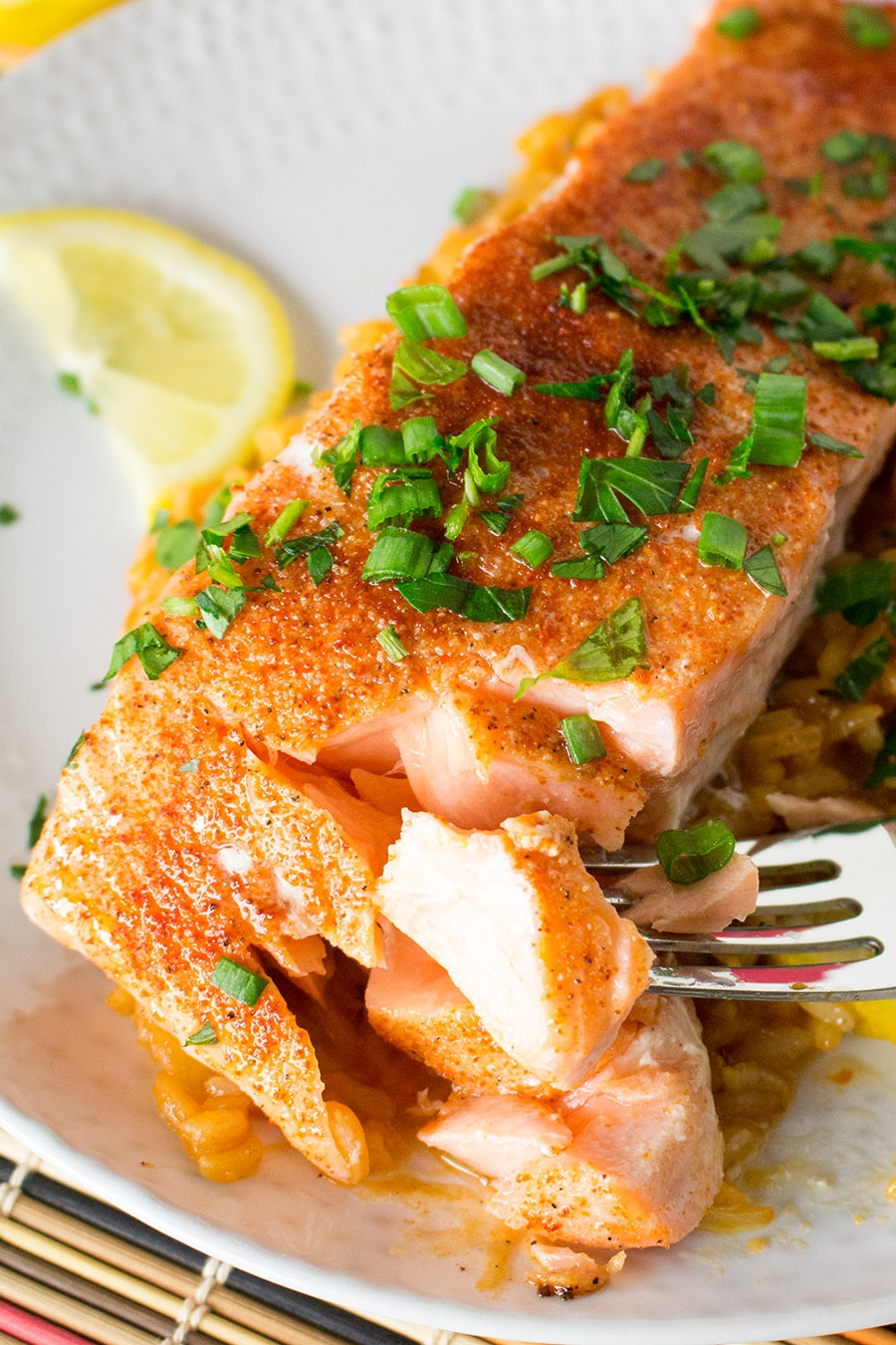 Cajun Baked Salmon with Cajun Rice