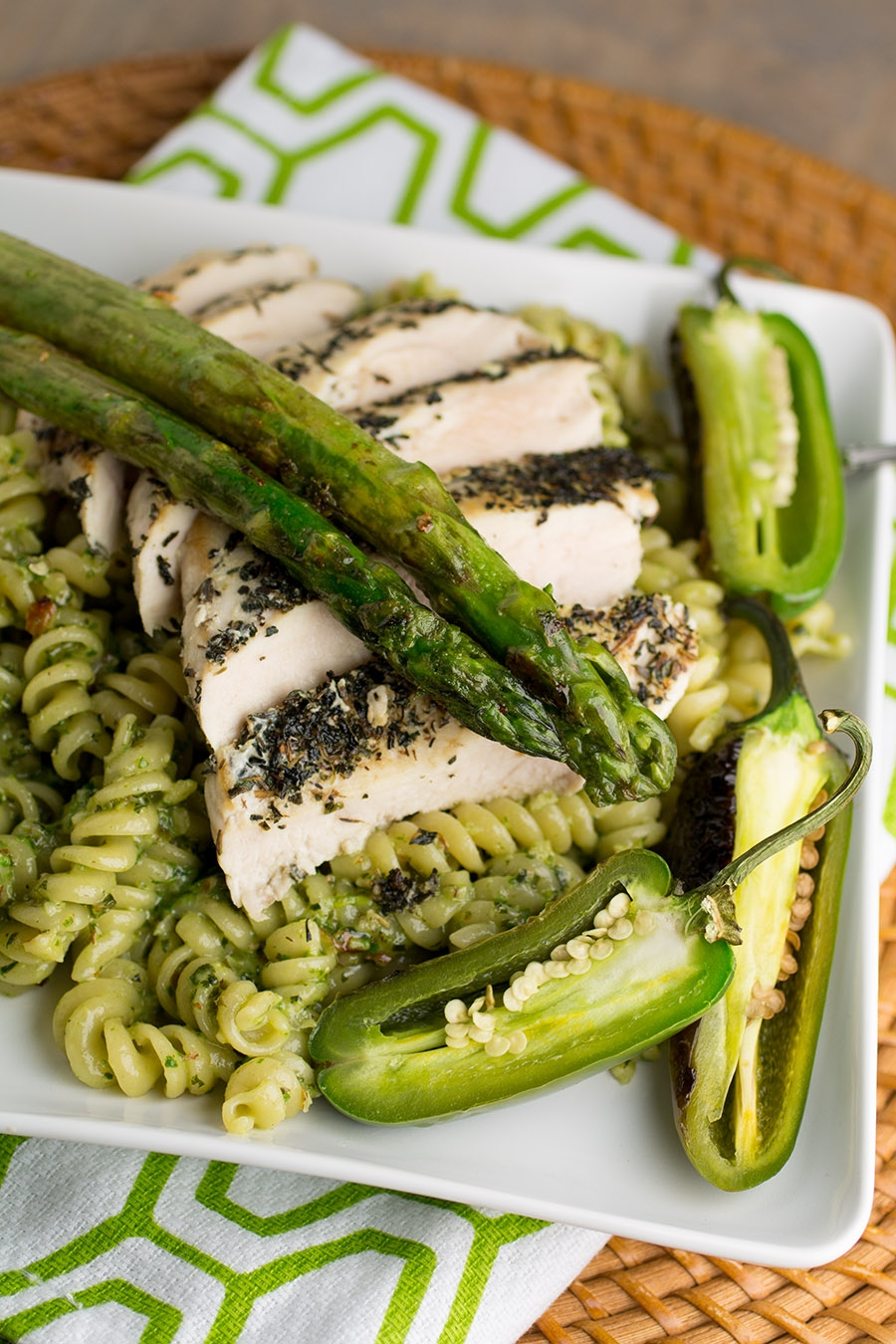 Spicy Chicken Pesto Pasta