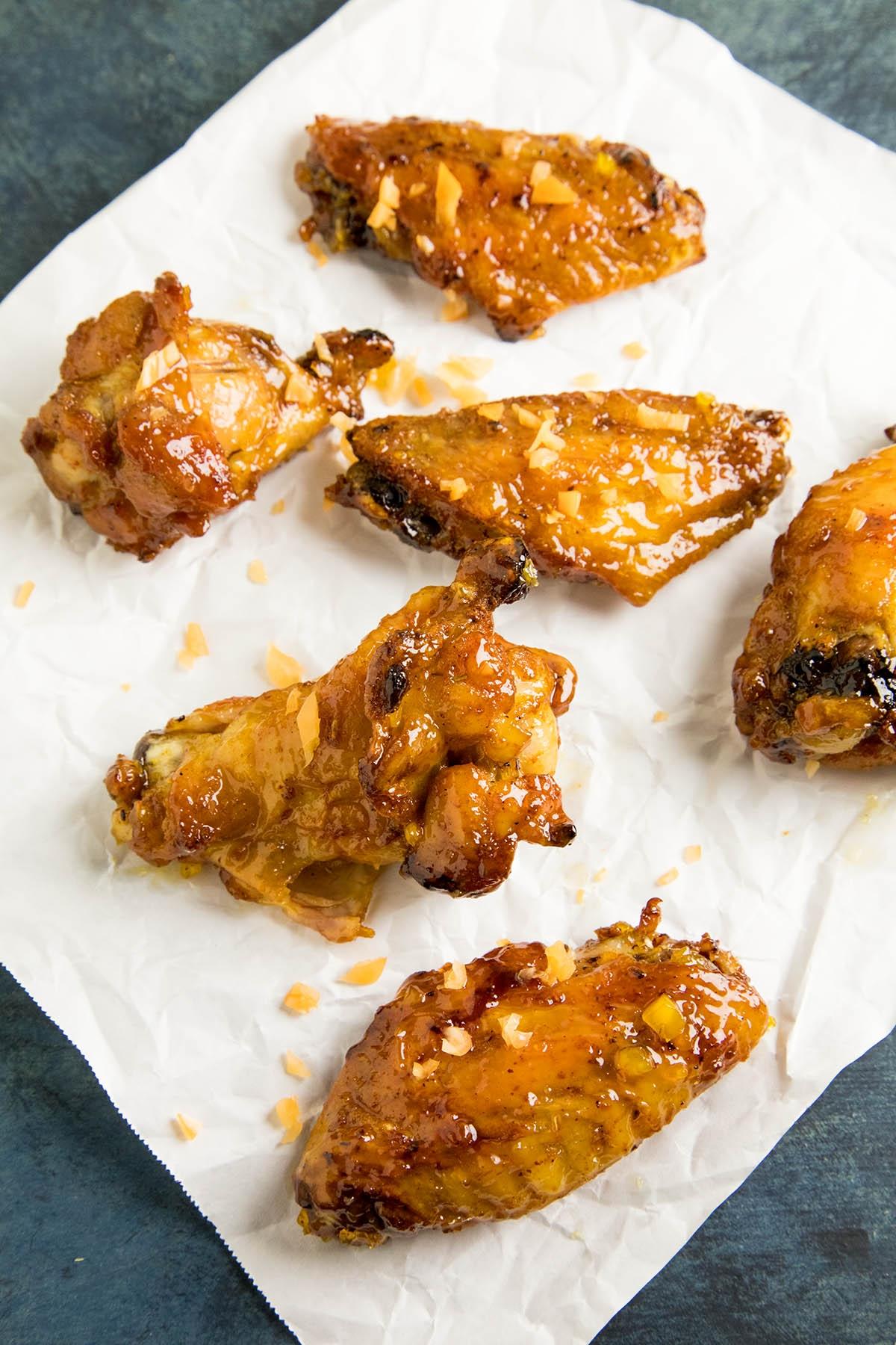 Sticky Habanero Glazed Chicken Wings