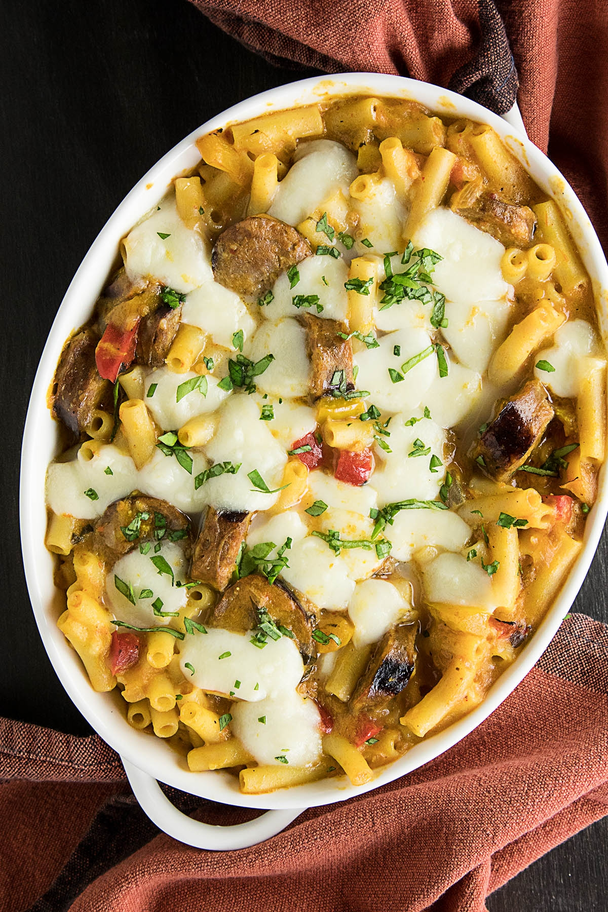 Easy Baked Ziti with Spicy Italian Sausage