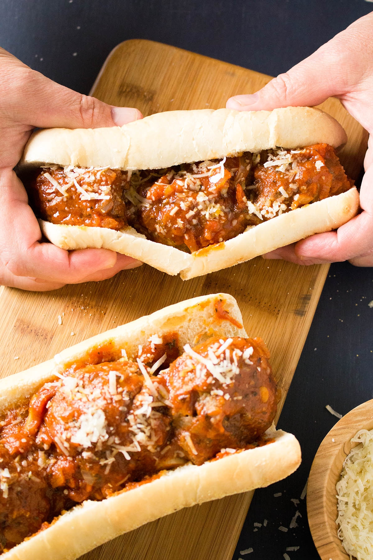 Spicy Meatballs Sub Sandwiches