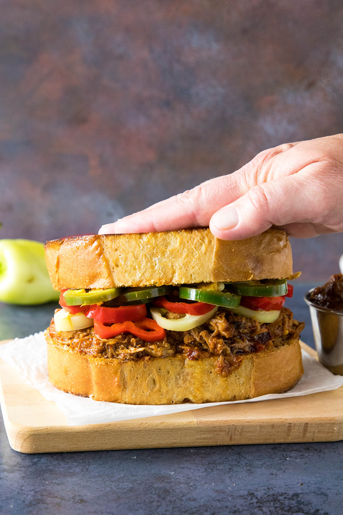 Let's make some Ancho BBQ Pulled Pork Sandwich on Texas Toast.