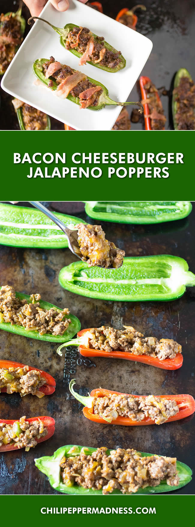 Bacon Cheeseburger Jalapeno Poppers - Recipe