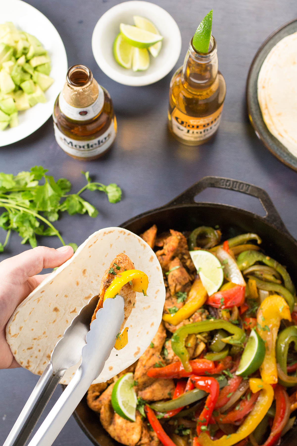 Beer Braised Chicken Fajitas - Recipe