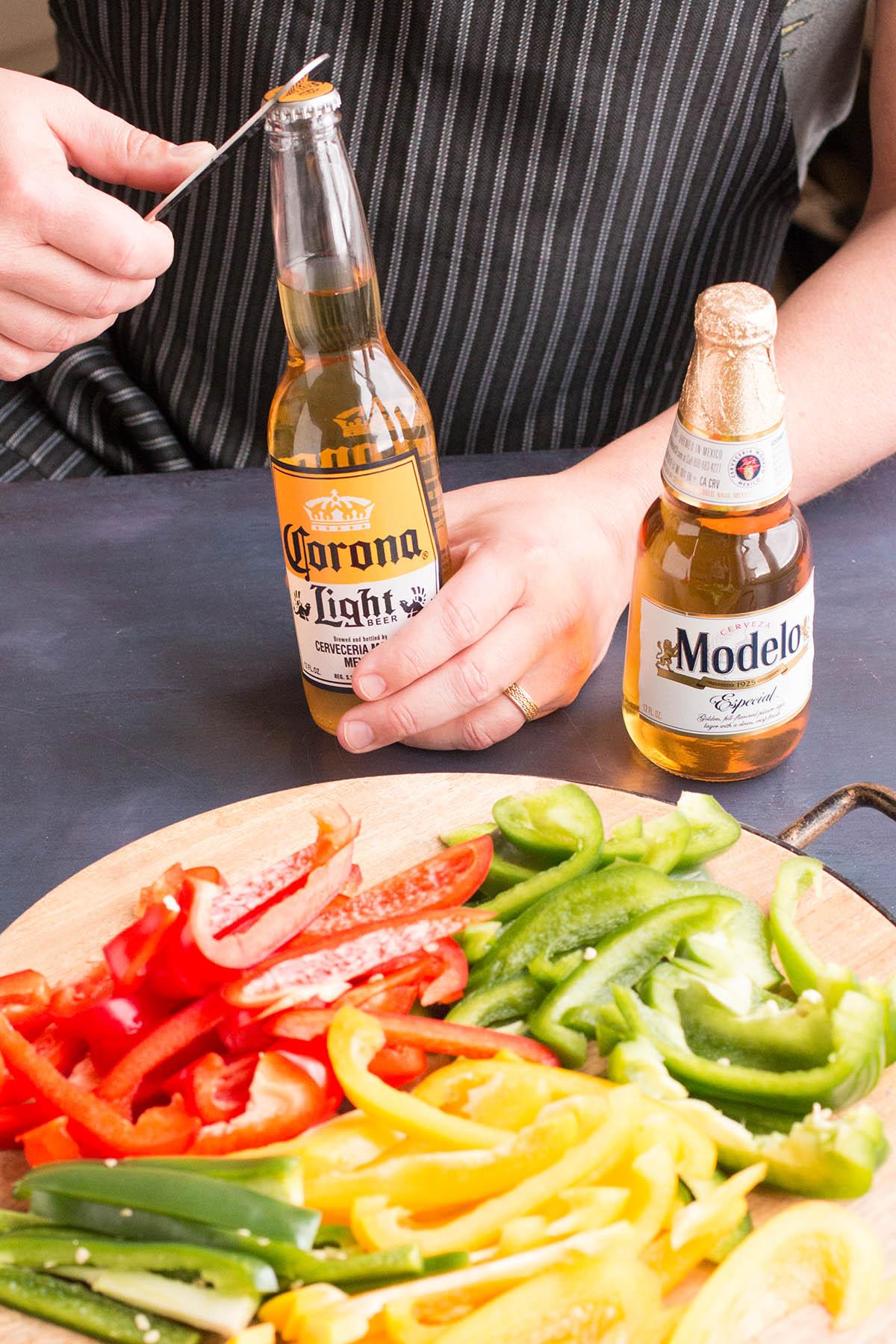 Beer Braised Chicken Fajitas – Recipe