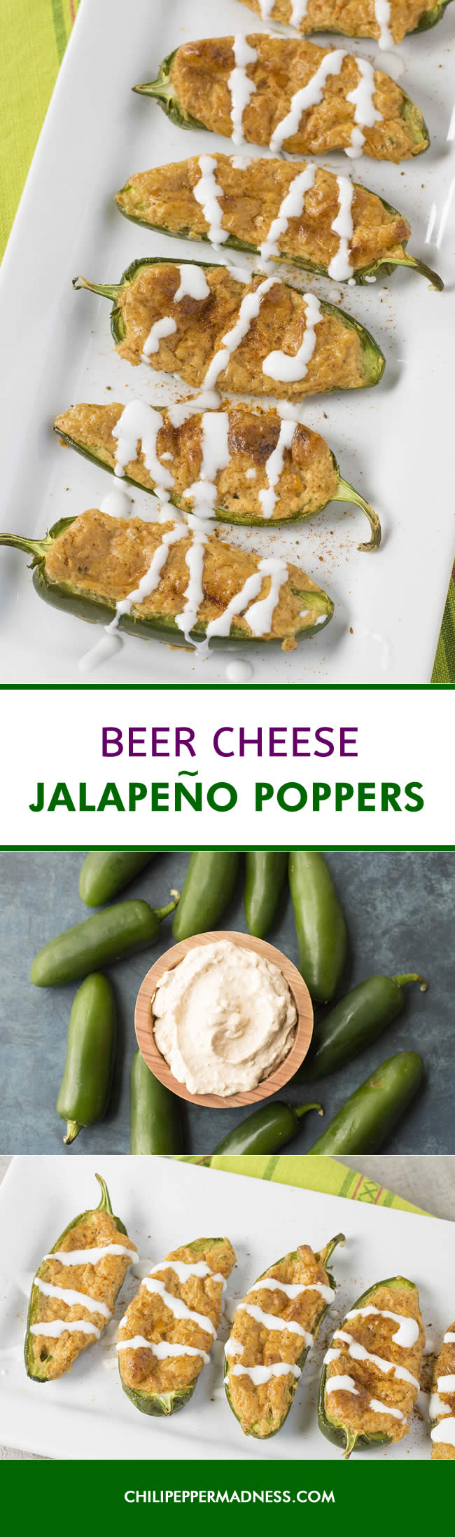 Beer Cheese Jalapeno Poppers - Recipe