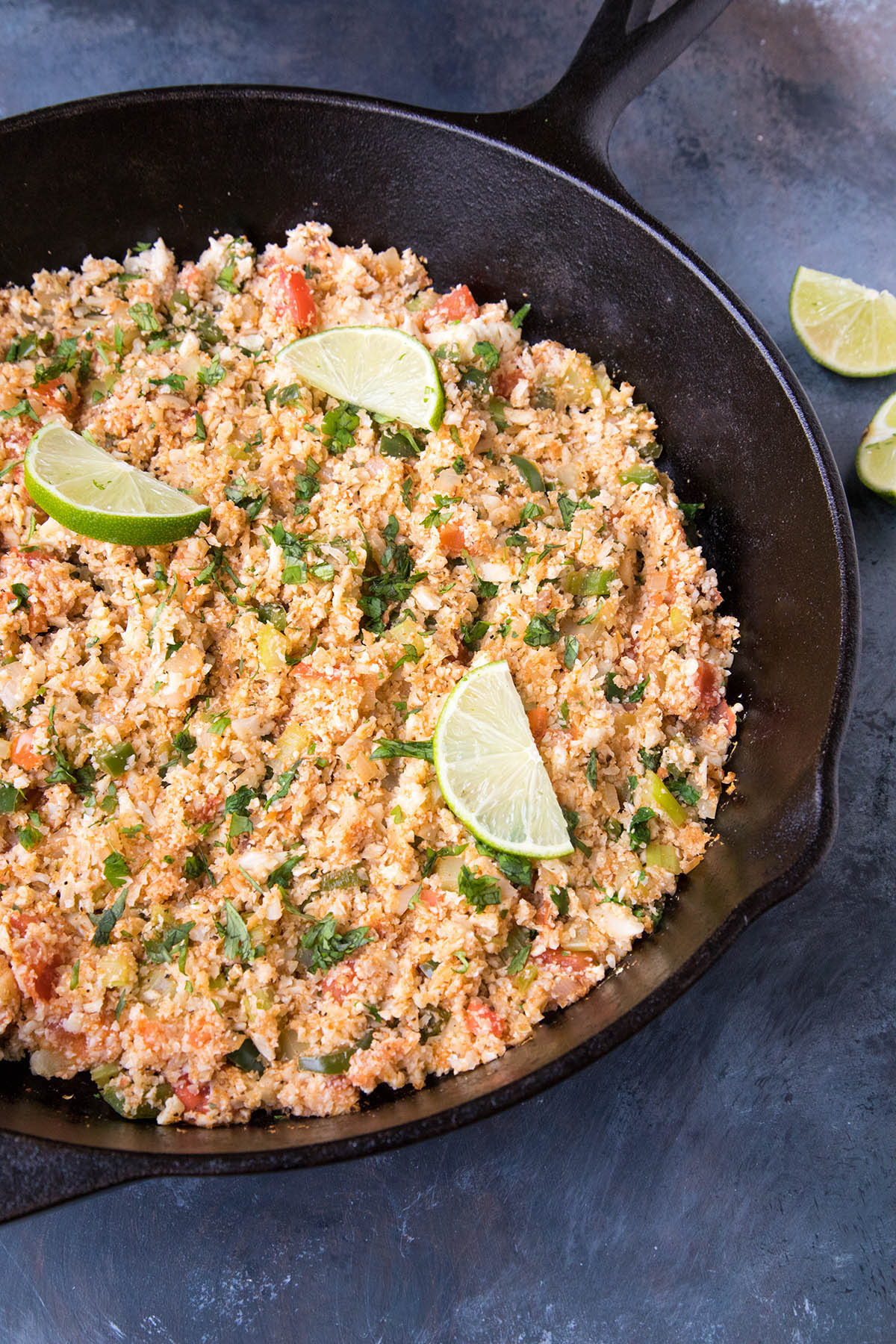 Cajun Cauliflower Rice in the pan. I could eat this every night of the week.