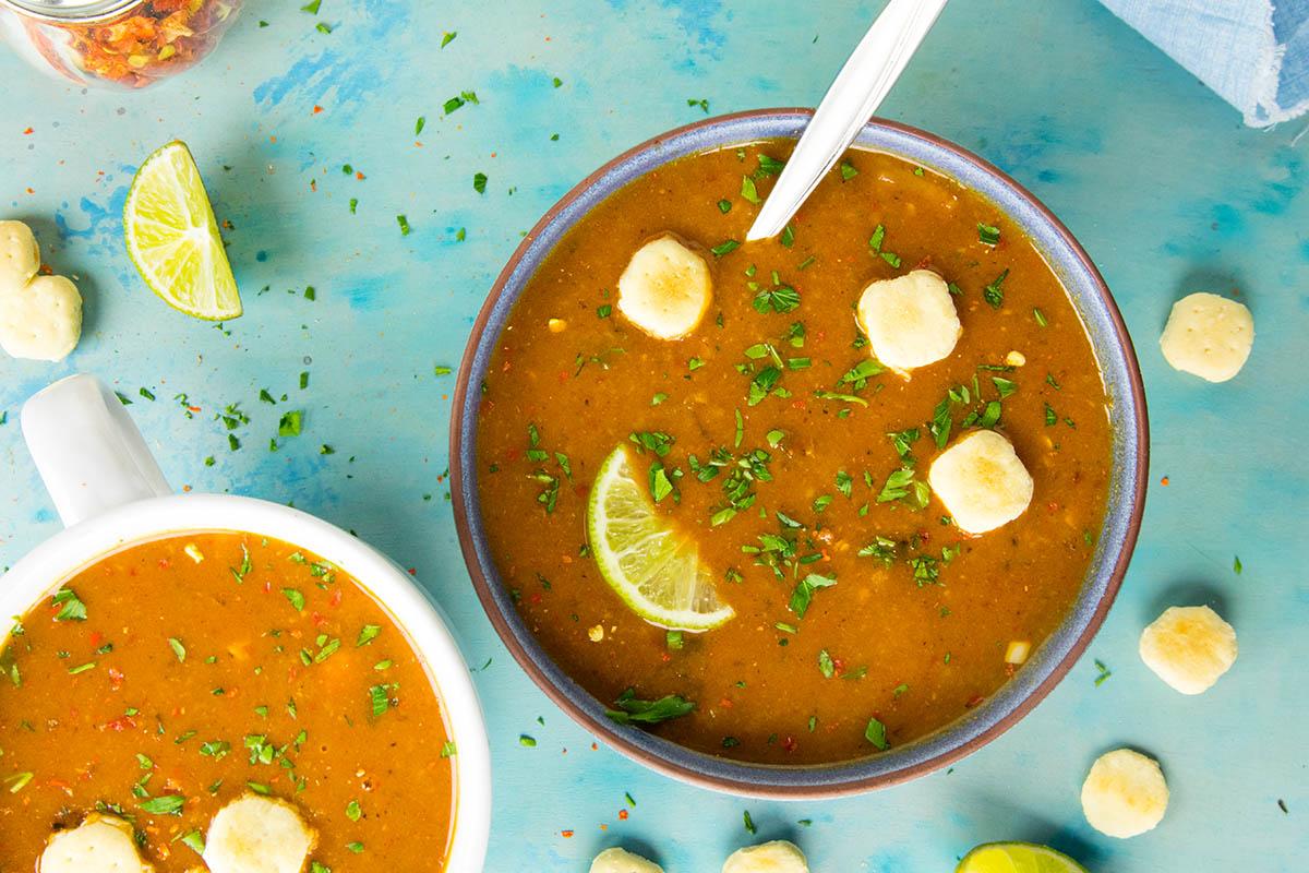 Cheesy Guajillo Potato Soup – Recipe