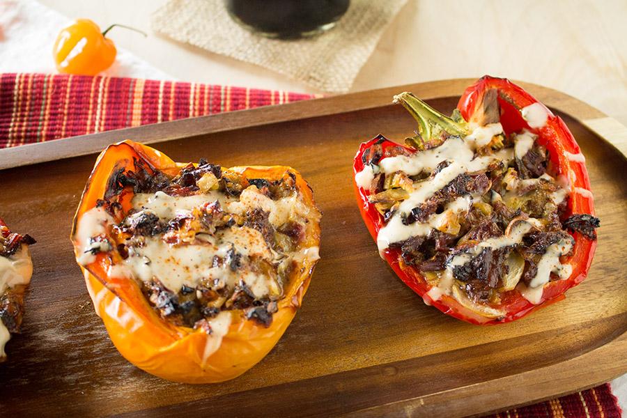 Corned Beef Stuffed Peppers Recipe