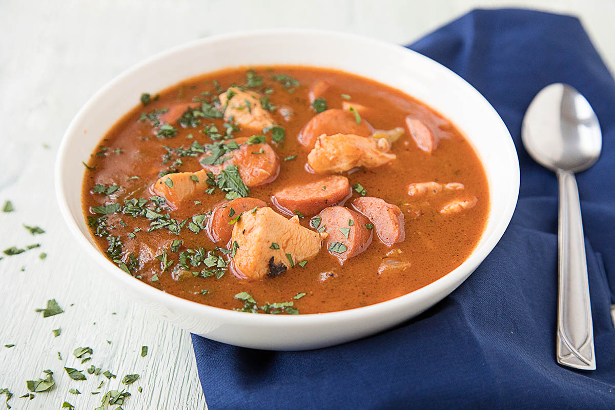 Creole Chicken and Sausage Gumbo - Recipe