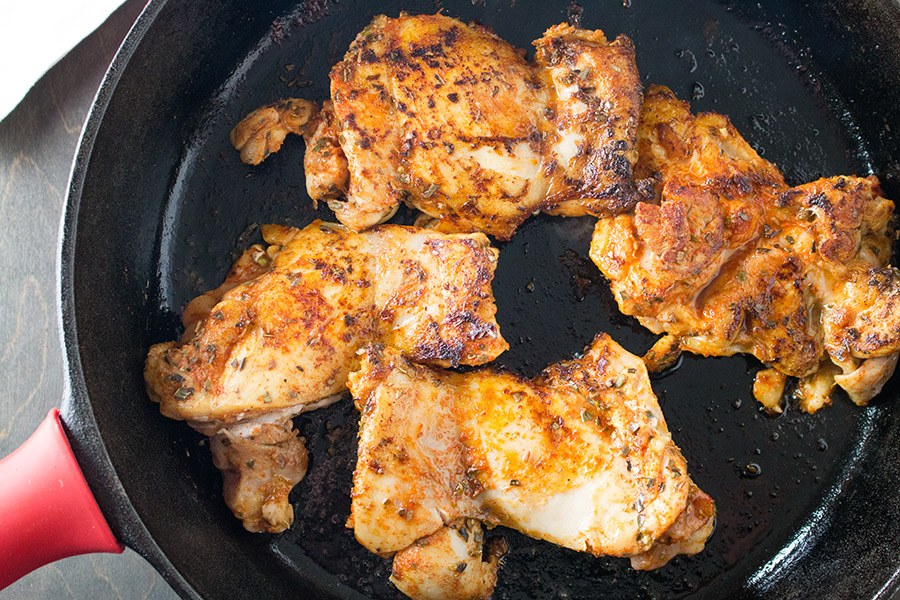 Easy Arroz con Pollo - Recipe - Seared Chicken