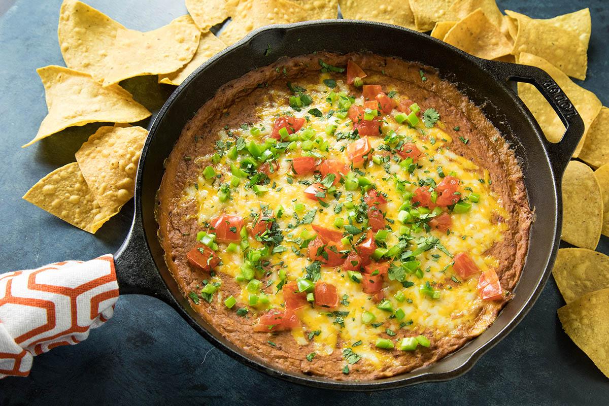 Easy Cheesy Chipotle Bean Dip - Recipe
