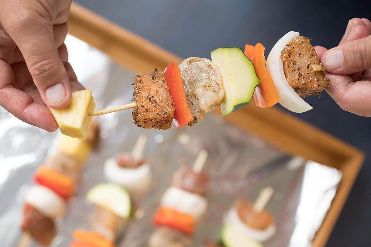 Easy BBQ Skewer Party