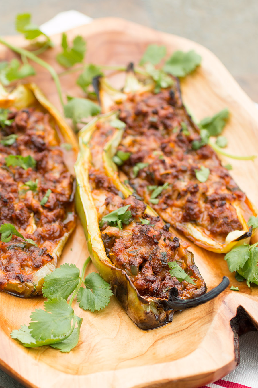 Grilled Chorizo and Cheese Stuffed Cubanelle Peppers