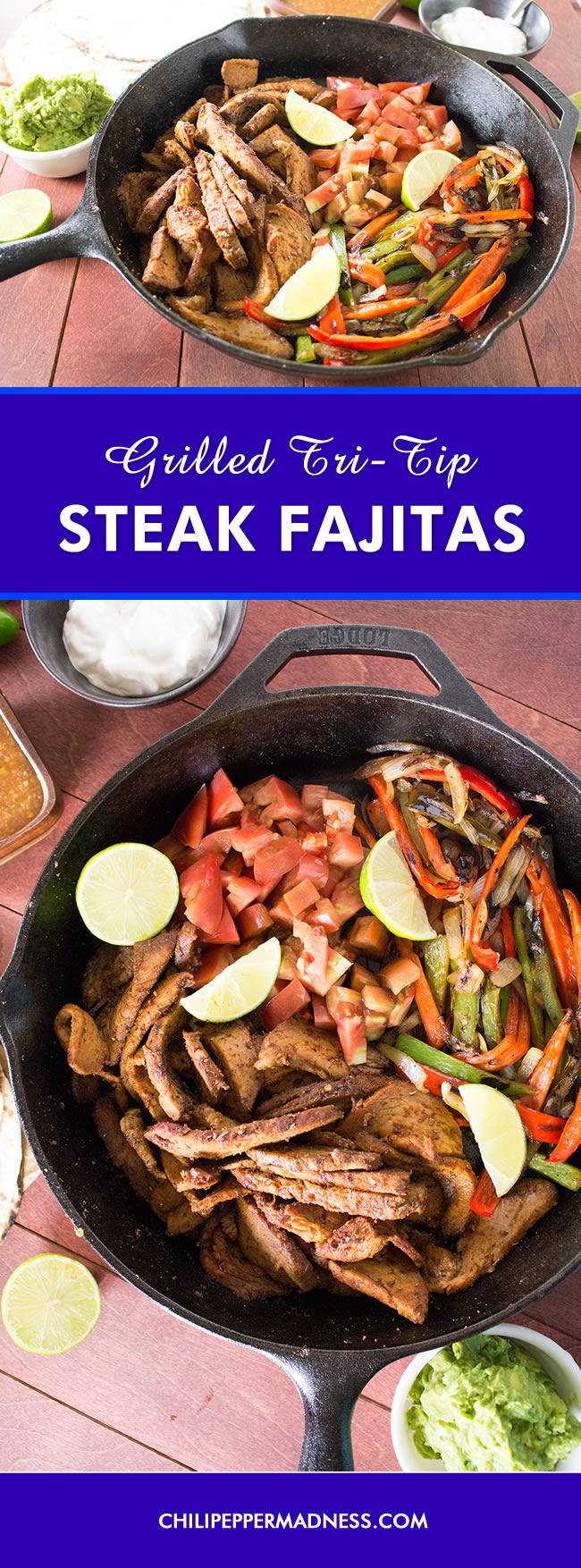 Grilled Tri-Tip Steak Fajitas - Recipe