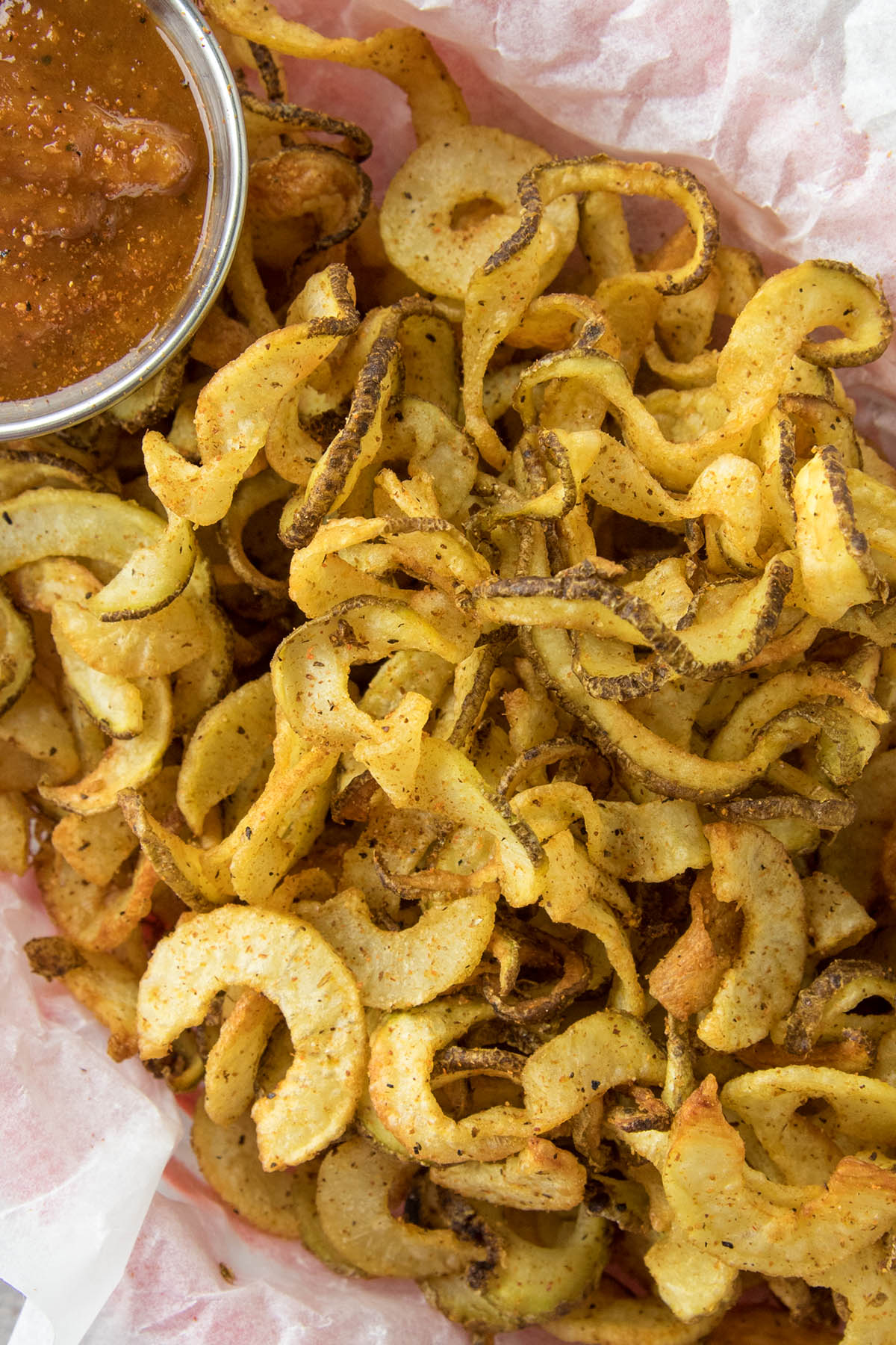 Homemade Air Fryer Cajun Curly French Fries - Recipe