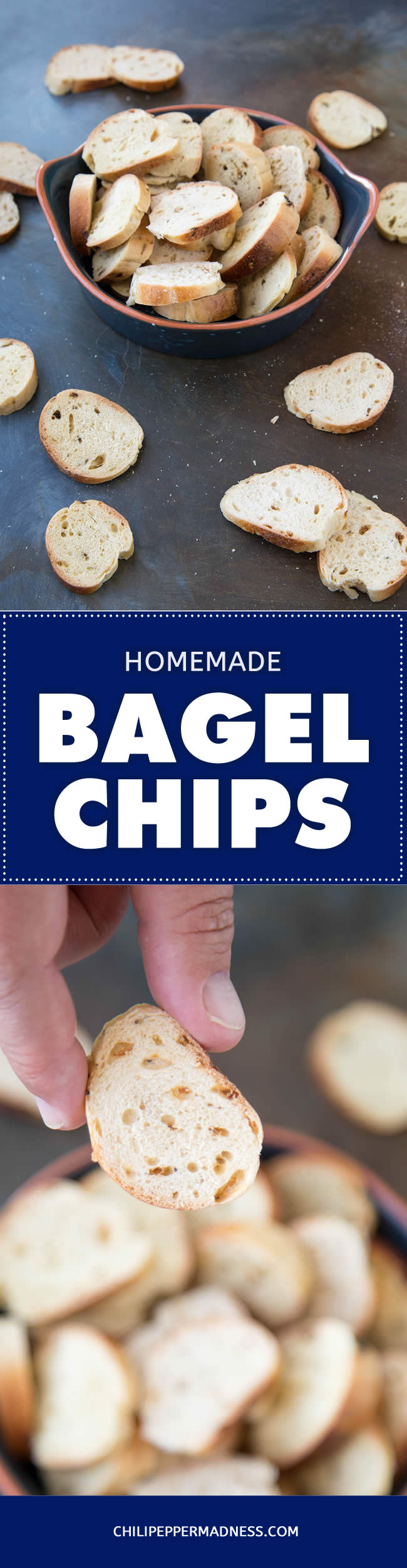 Homemade Bagel Chips - Recipe (Oven Baked or Dehydrator Method)