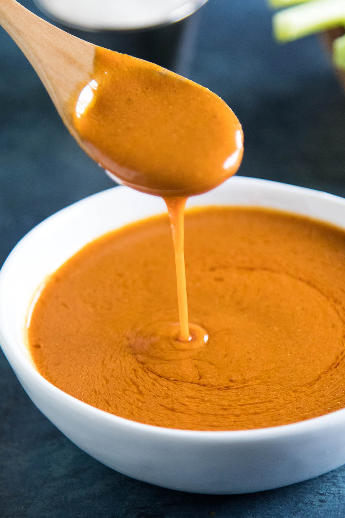 Homemade Buffalo Sauce is so much better than store bought. Get the recipe here.