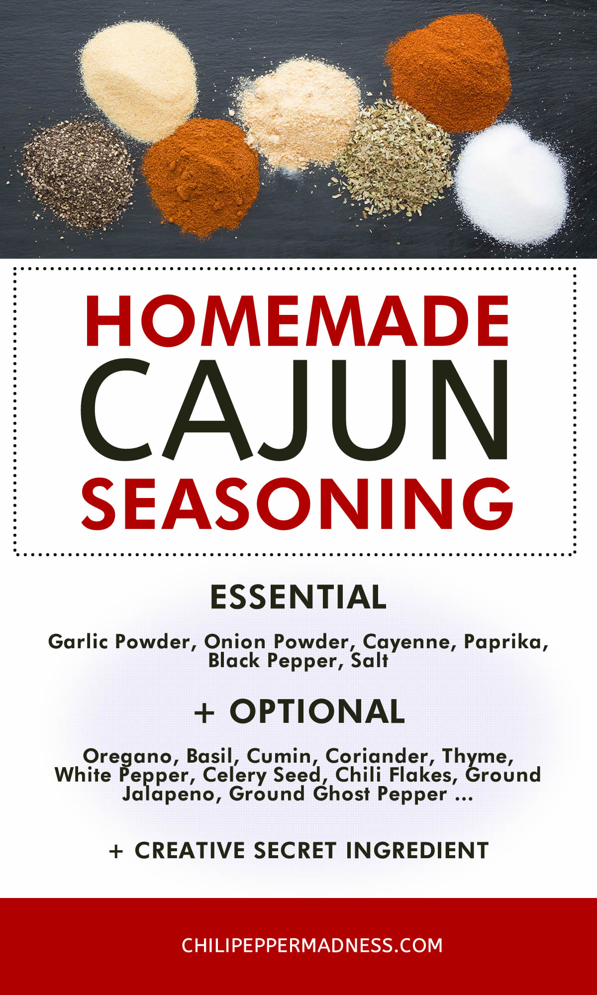 How to Make Cajun Seasoning Blend - Recipe Chart