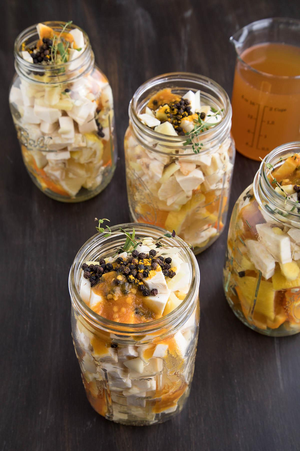 Fire Cider ingredients before apple cider vinegar is added