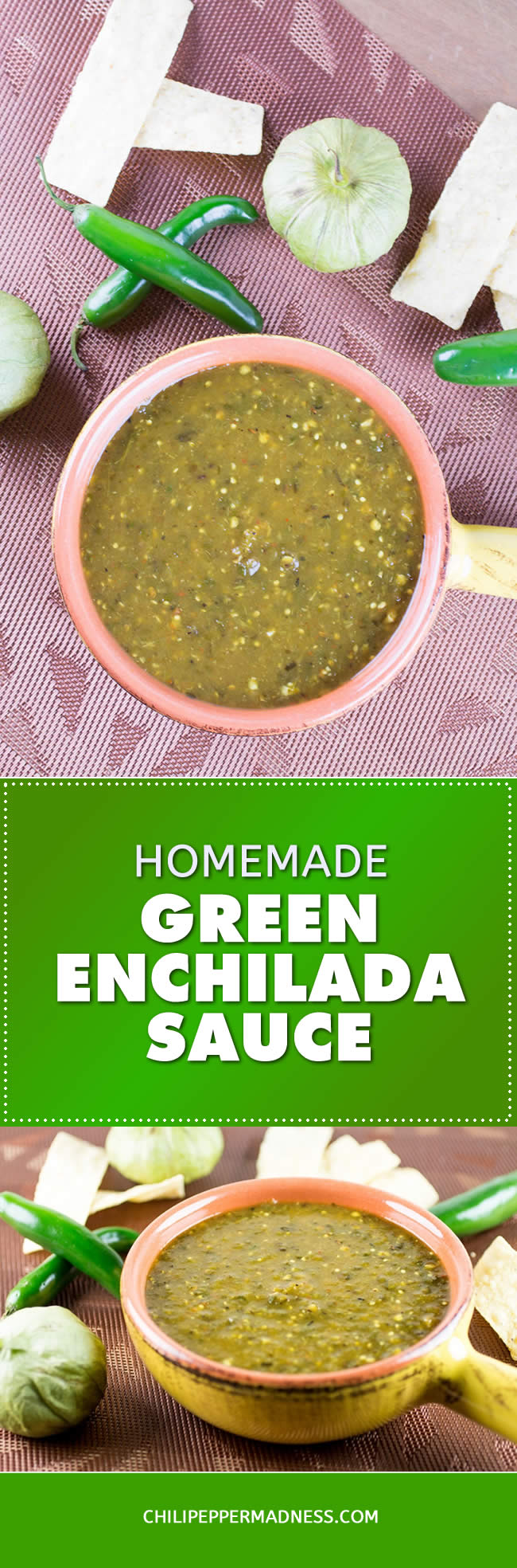Homemade Green Enchilada Sauce with Roasted Tomatillos - Recipe | ChiliPepperMadness.com