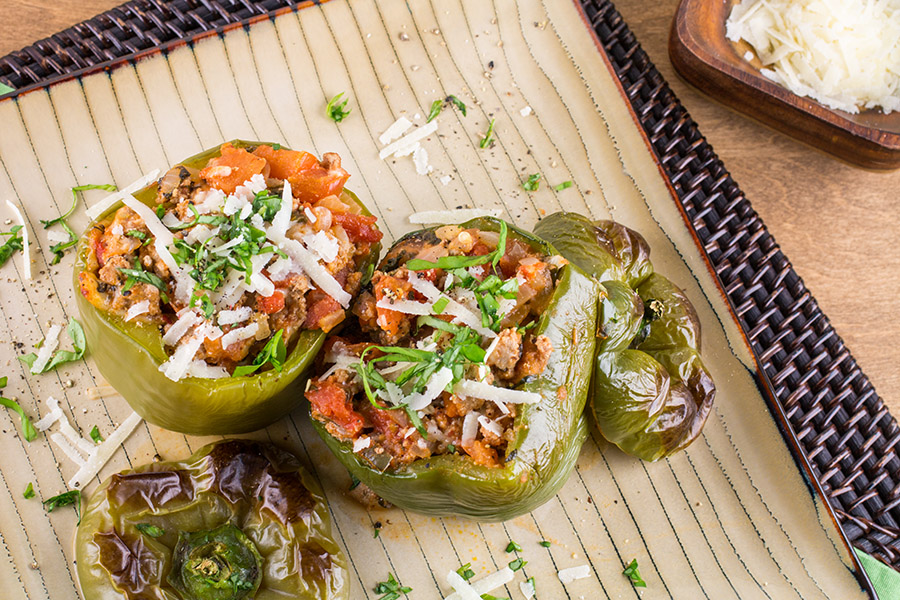 Italian Stuffed Green Peppers