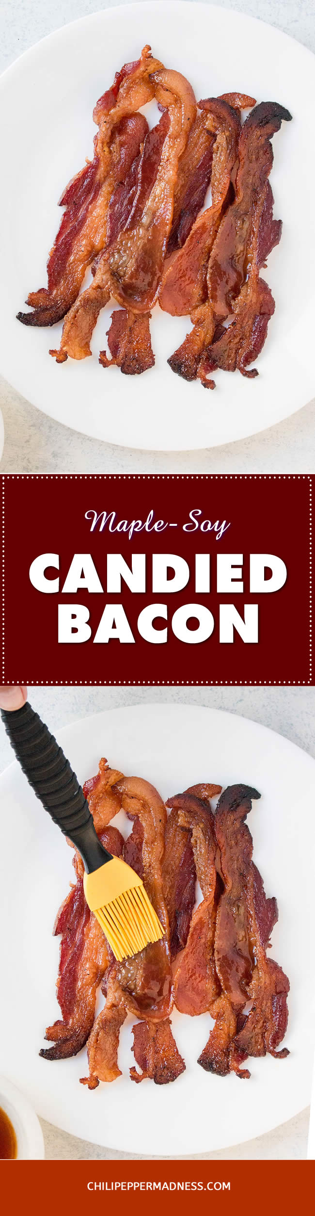 Oven Baked Maple-Soy Candied Bacon - Recipe