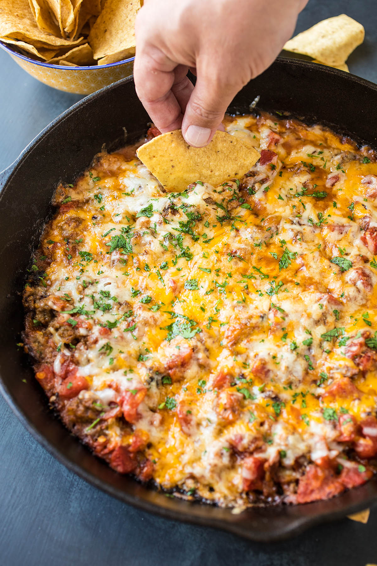 One Pan Hatch Chili-Cheese Dip - Recipe