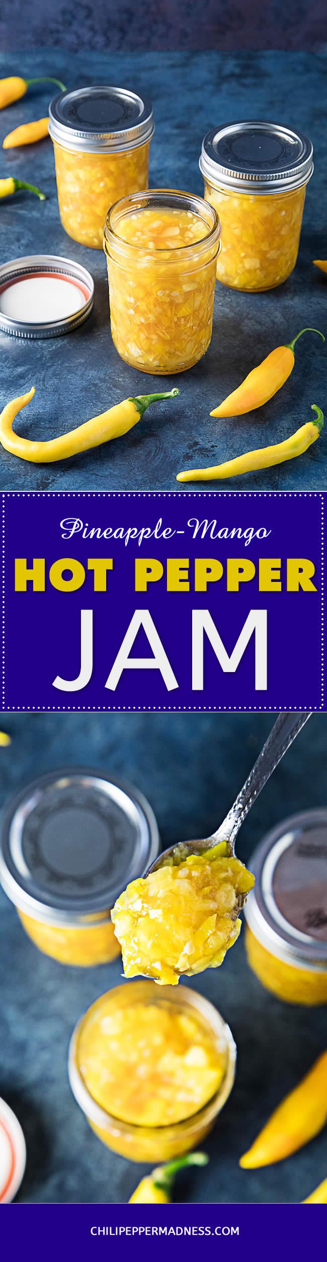 Pineapple-Mango-Hot Pepper Jam - Recipe