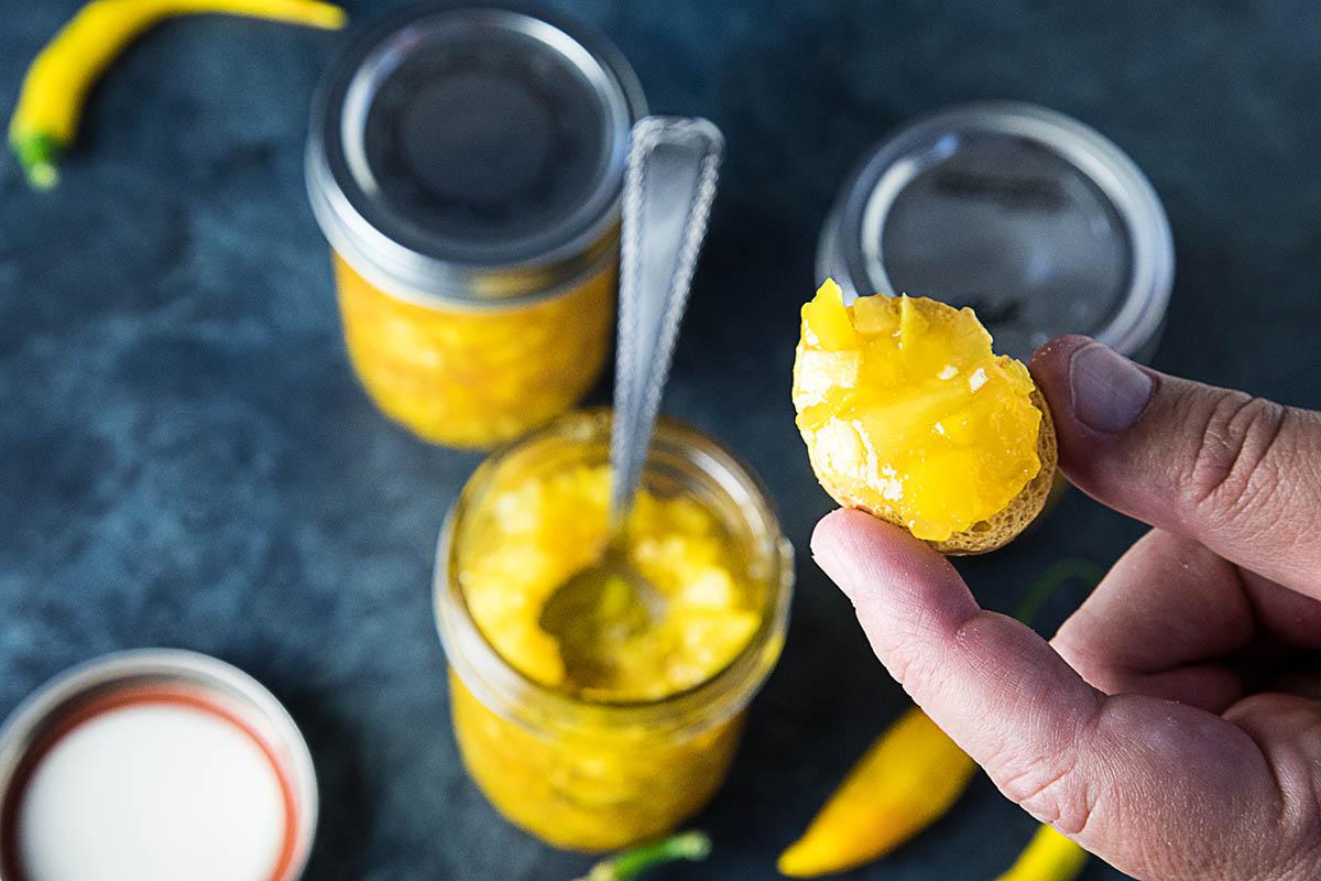 Pineapple-Mango-Hot Pepper Jam – Recipe