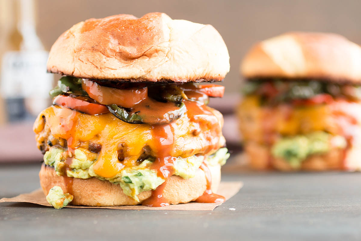 Pork Burgers with Guacamole and Fried Jalapenos – Recipe