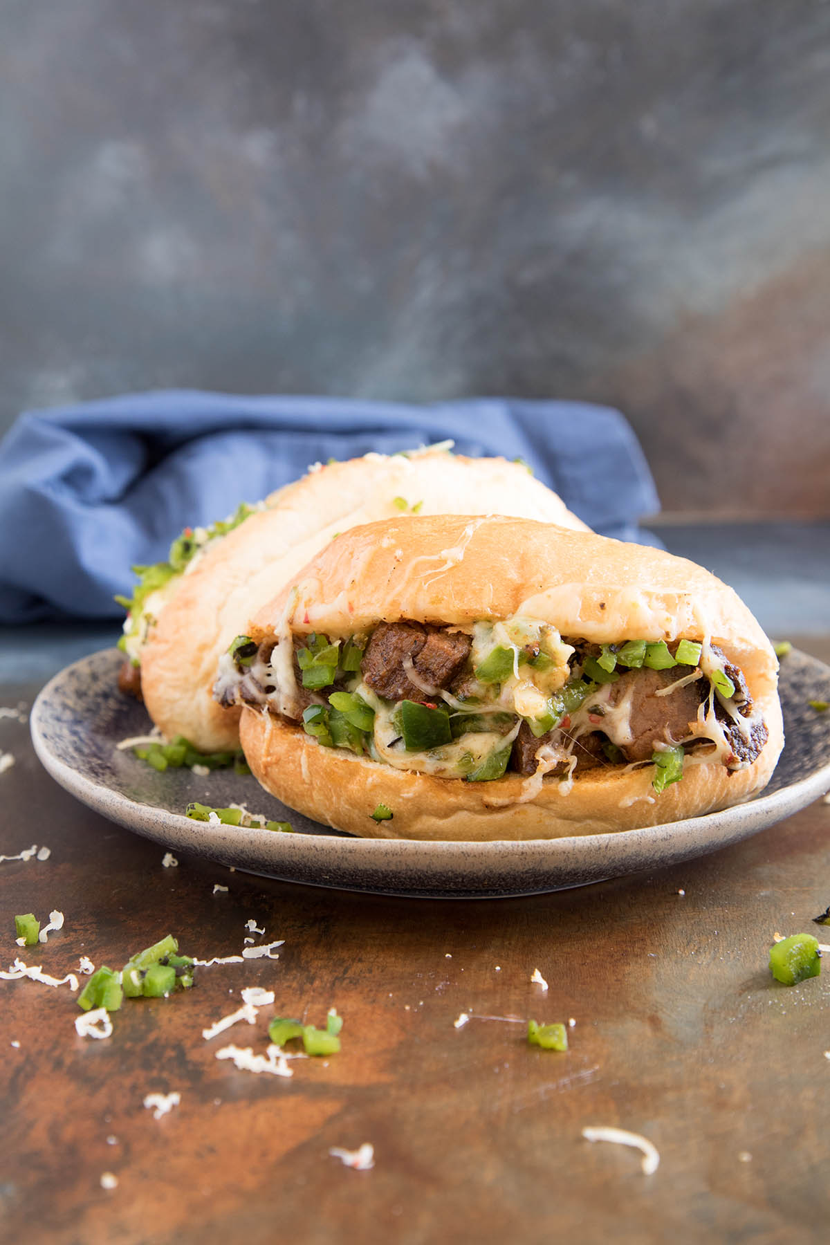Prime Rib Sandwich with Roasted Poblanos and Garlic Mayo – Recipe
