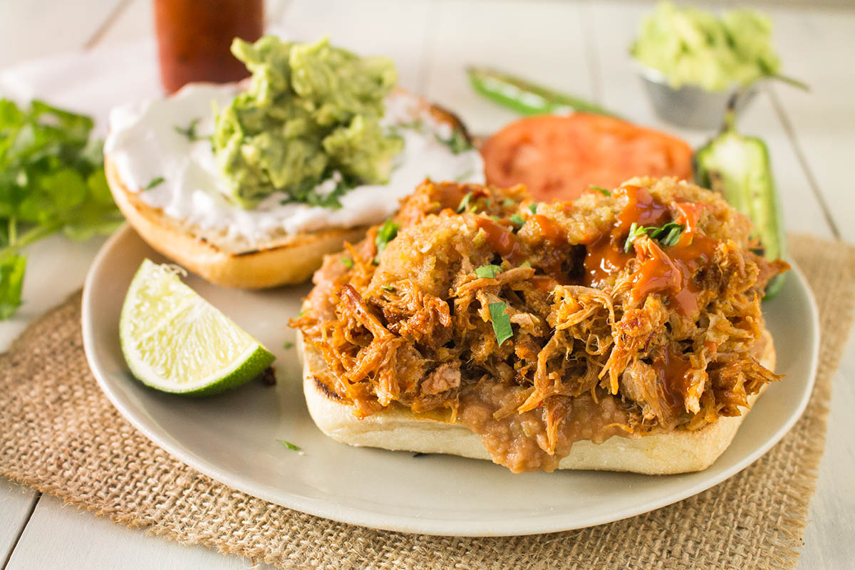 Pulled Pork Mexican Torta Sandwich - Recipe