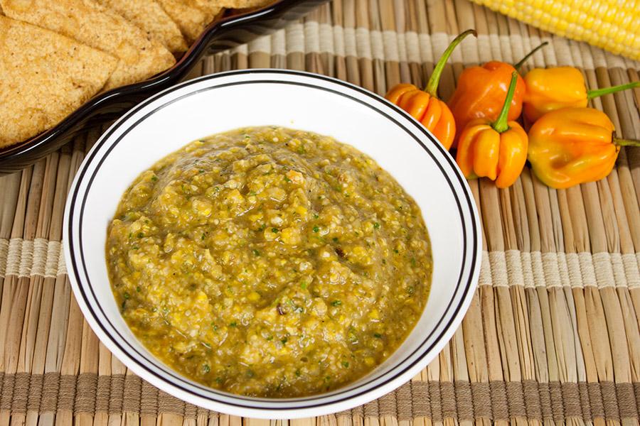 Roasted Corn and Habanero Salsa