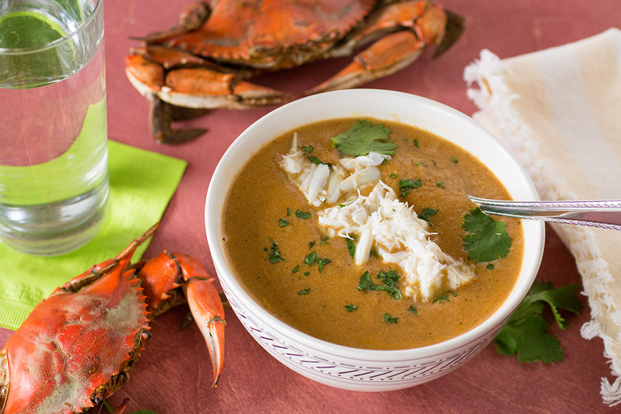 Roasted Red Pepper Crab Bisque2