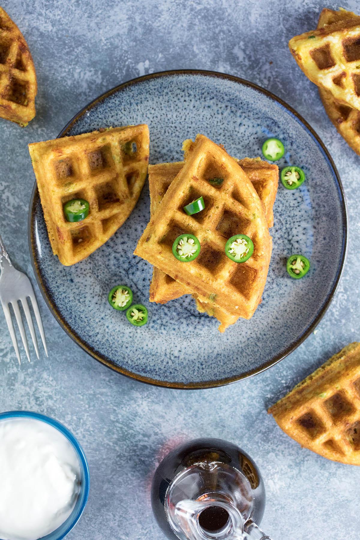 Serrano-Cheddar Waffles - Recipe