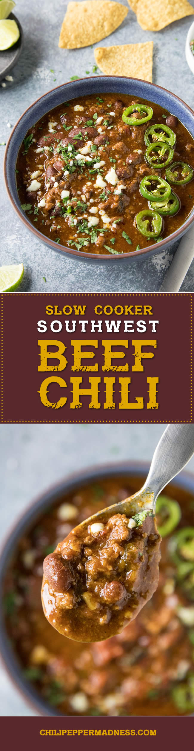 Slow Cooker Southwest Beef Chili - Recipe