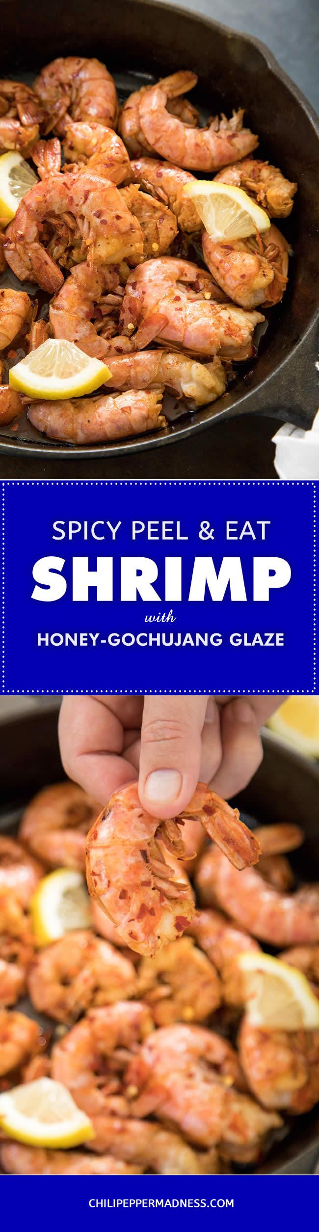Spicy Peel-and-Eat Shrimp with Honey-Gochujang Glaze - Recipe