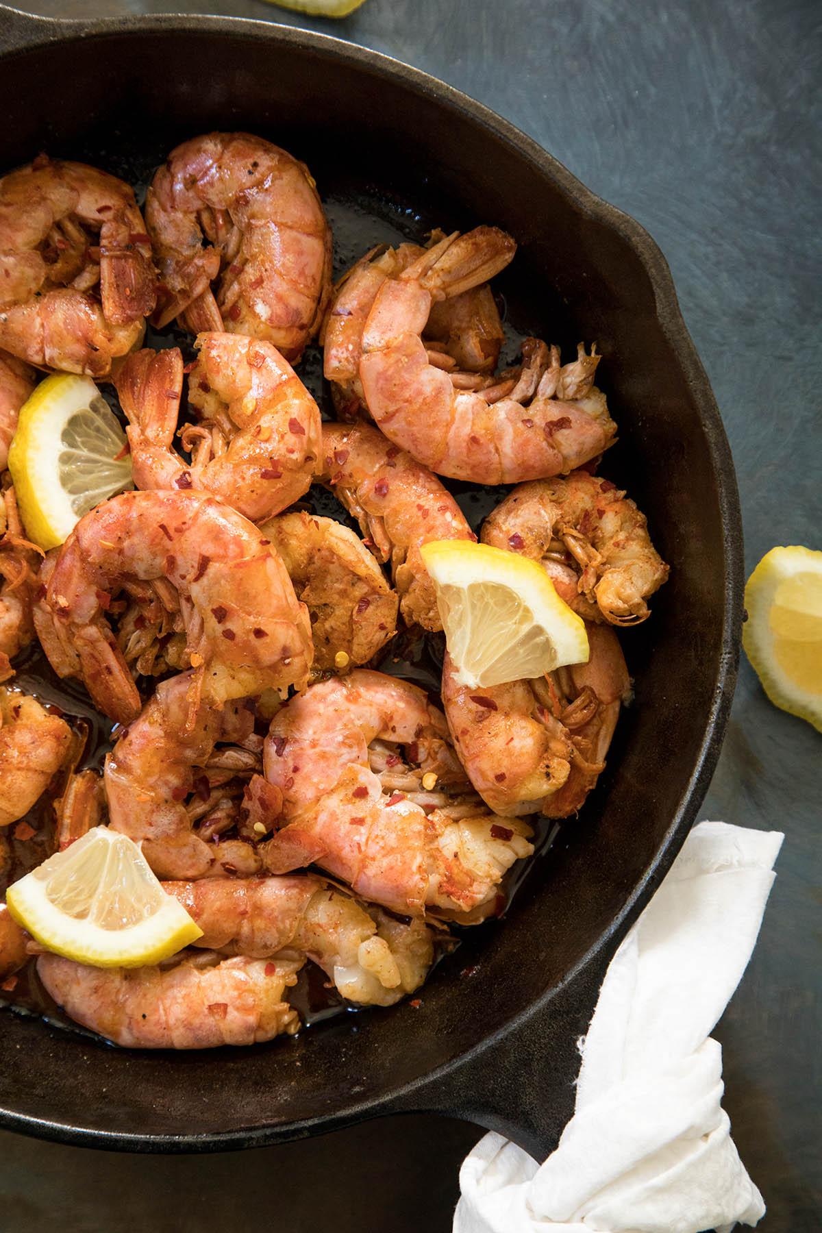 Spicy Peel-and-Eat Shrimp with Honey-Gochujang Glaze – Recipe