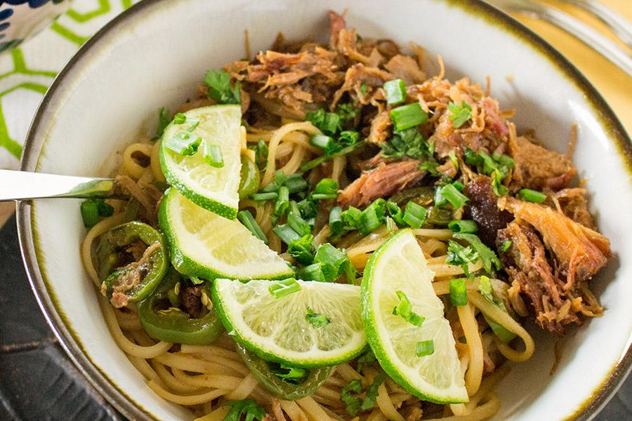 Spicy Pork Noodle Bowl