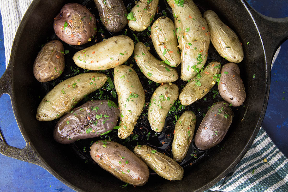 Spicy Oven Roasted Fingerling Potatoes – Recipe
