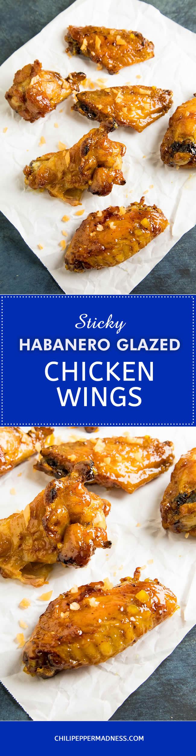 Sticky Habanero Glazed Chicken Wings - Recipe