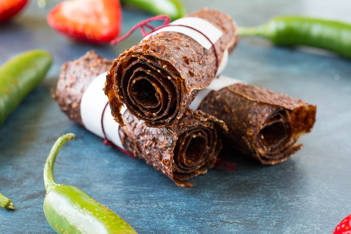 Strawberry-Serrano Fruit Leathers (Roll Ups) – Recipe