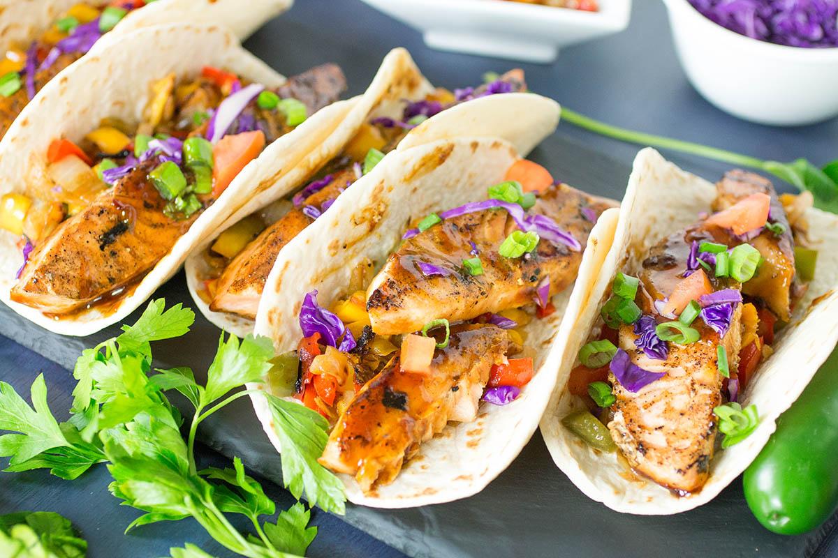 Szechuan Salmon Tacos – Recipe