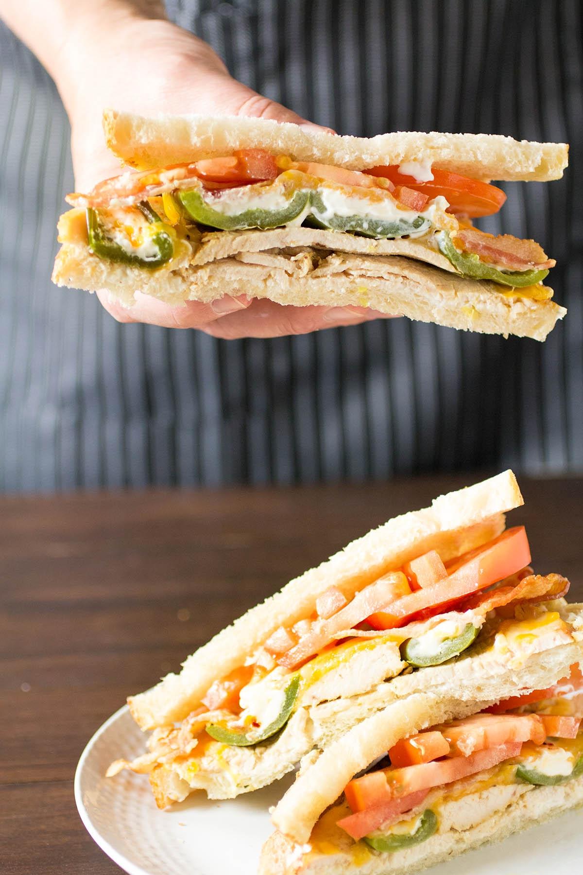 Cheesy Jalapeno Popper-Turkey Sandwiches