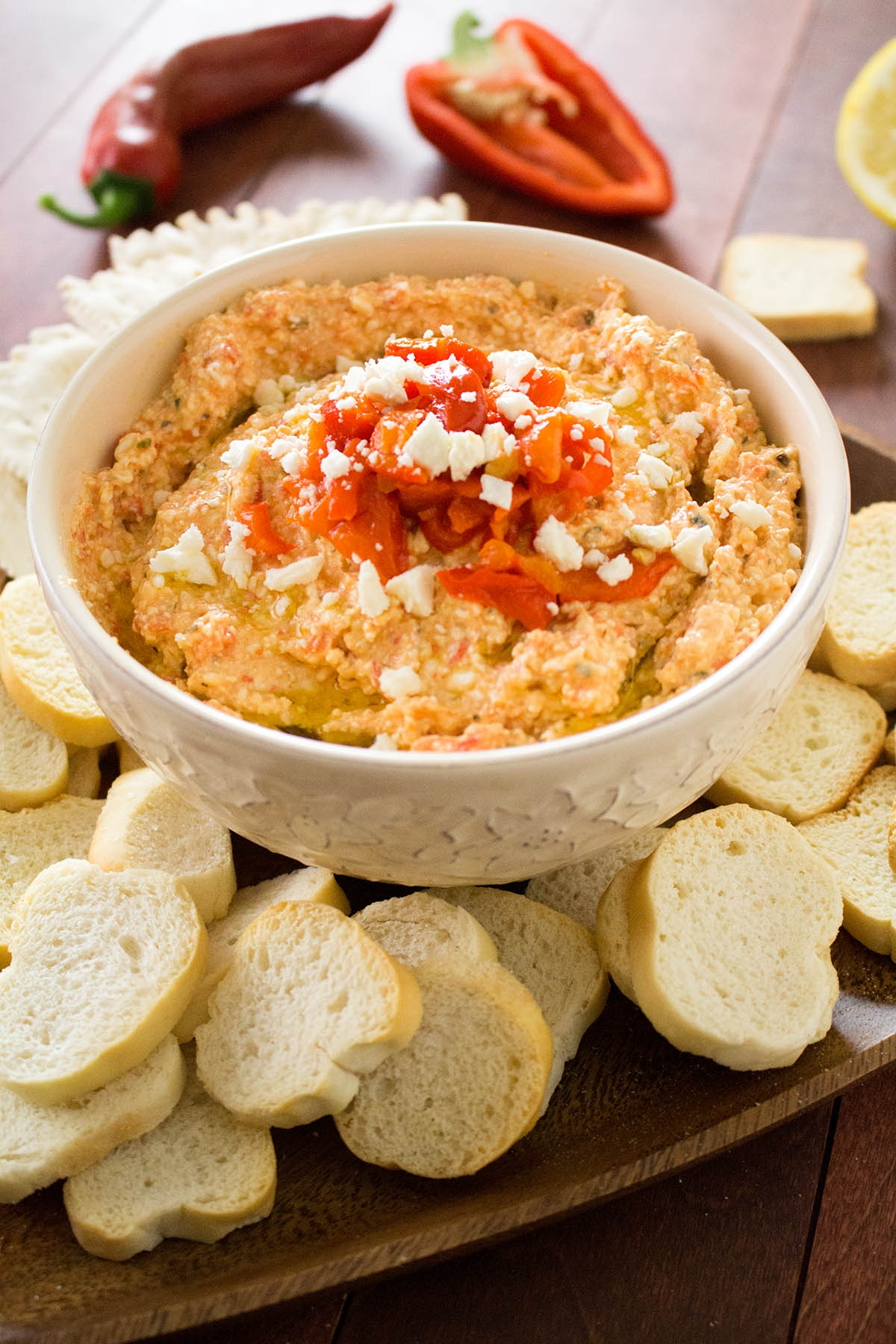 Roasted Red Pepper-Feta Cheese Dip (Htipiti)