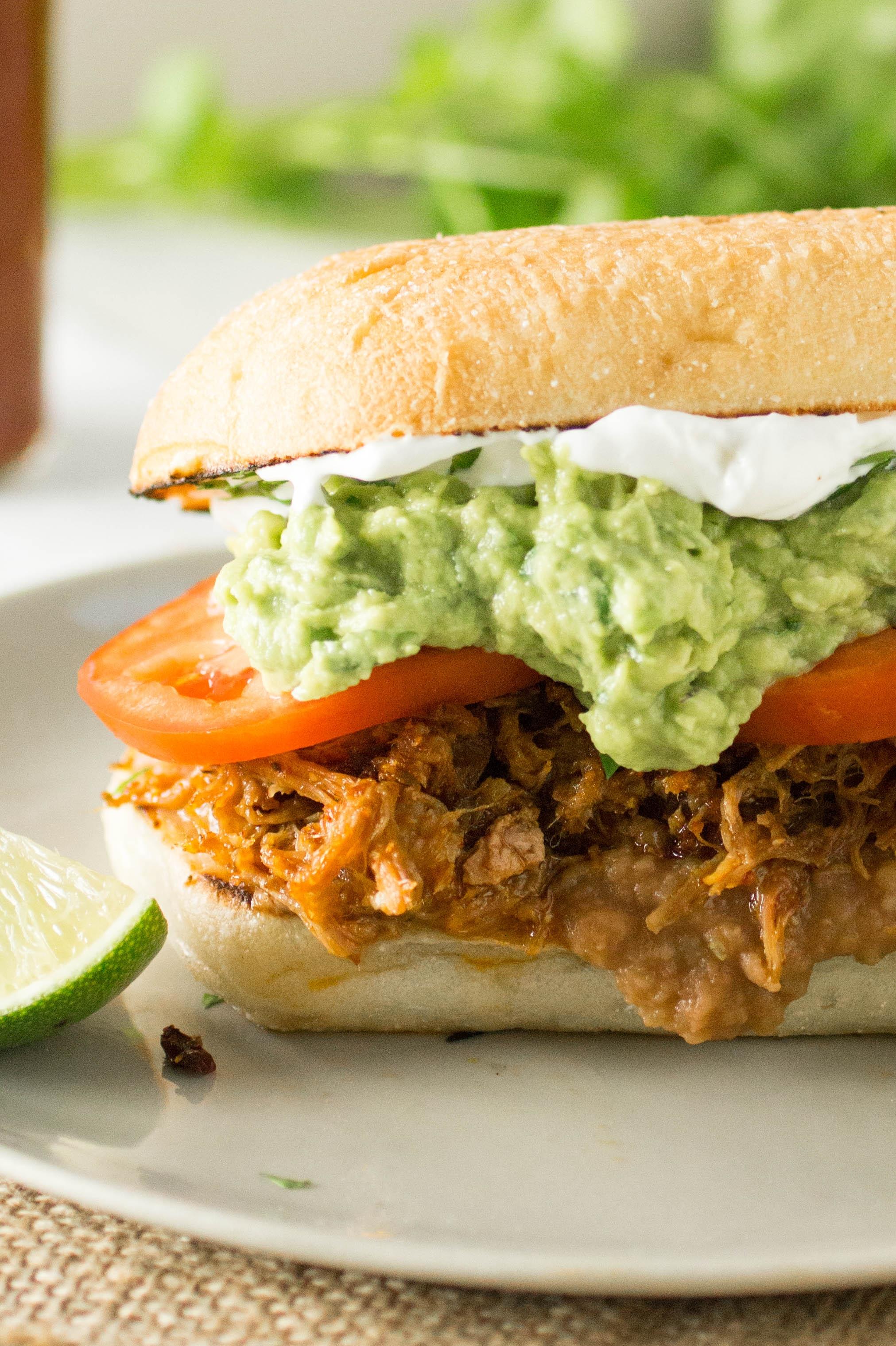 Pulled Pork Mexican Torta Sandwich