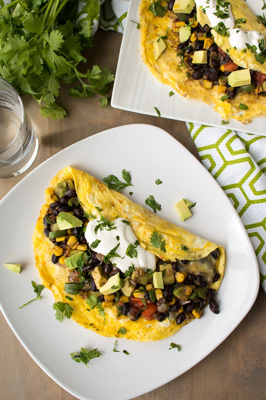 Loaded Mexican Omelette