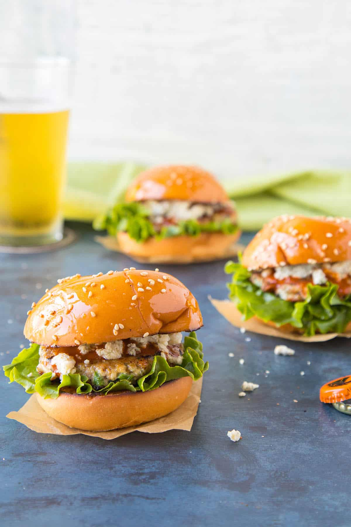 Buffalo Blue Cheese Chicken Sliders - One of my favorite slider recipes.