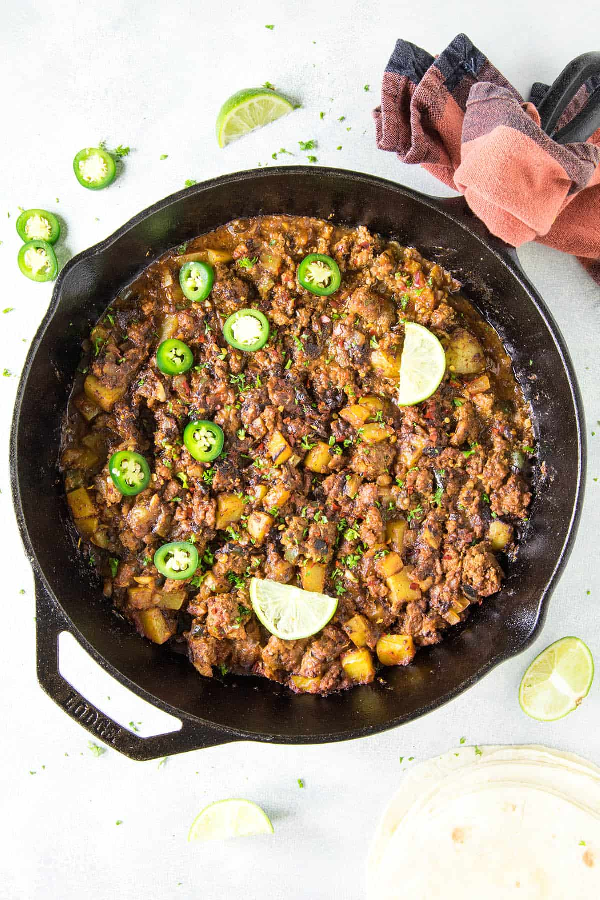 Mexican Picadillo Recipe - Cooked up together in a single pan.